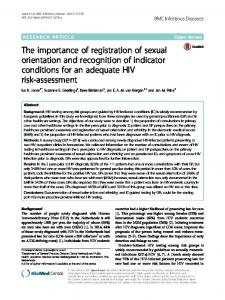 The importance of registration of sexual orientation and recognition of ...