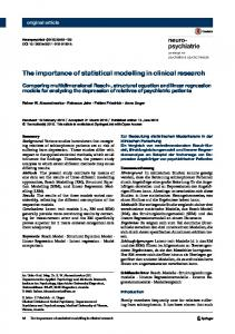 The importance of statistical modelling in clinical ... - Springer Link