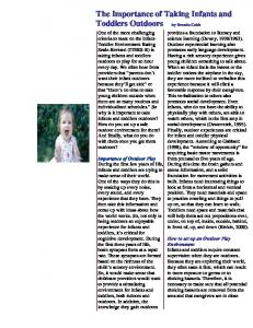 The Importance of Taking Infants and Toddlers Outdoors by Brenda ...