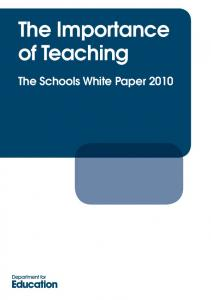 The Importance of Teaching - Gov.uk
