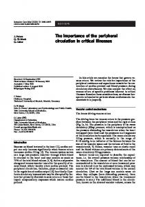 The importance of the peripheral circulation in critical ... - Springer Link