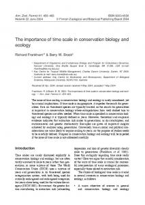 The importance of time scale in conservation biology and ecology