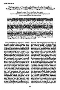 The Importance of Time/Space in Diagnosing the Causality of ...