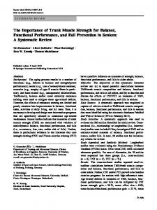 The Importance of Trunk Muscle Strength for Balance ... - Springer Link