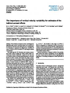The importance of vertical velocity variability for ... - Atmos. Chem. Phys