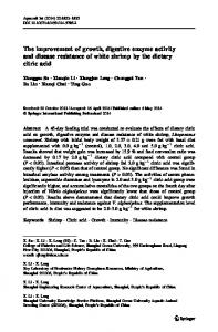 The improvement of growth, digestive enzyme activity ... - Springer Link