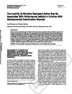 The Inability To Mentally Represent Action May Be Associated With ...