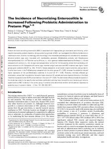 The Incidence of Necrotizing Enterocolitis Is ...
