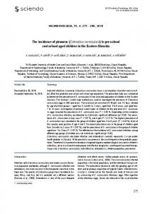 The incidence of pinworm (Enterobius vermicularis) in pre ... - Sciendo