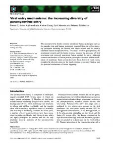 the increasing diversity of paramyxovirus entry - Wiley Online Library