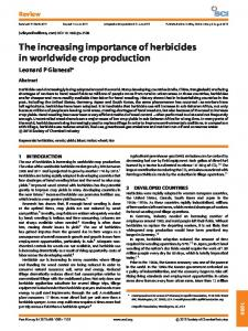 The increasing importance of herbicides in ... - Wiley Online Library