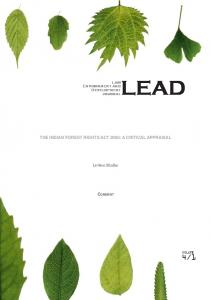 The Indian Forest Rights Act 2006: A Critical Appraisal - LEAD Journal