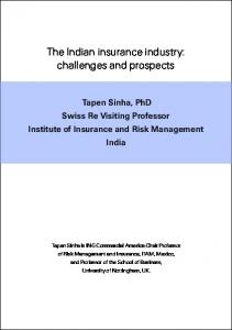 Second Generation Of Reform In Indian Insurance Industry