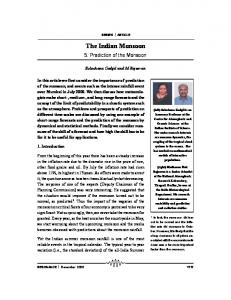 The Indian Monsoon - Indian Academy of Sciences
