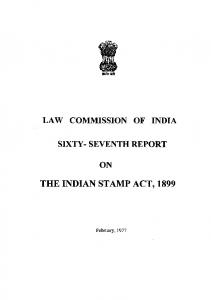 The Indian stamps act,1899