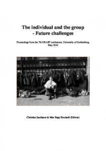 The individual and the group - Future challenges