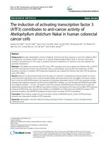 The induction of activating transcription factor 3 (ATF3 ...