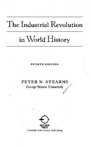 The Industrial Revolution in World History - GBV