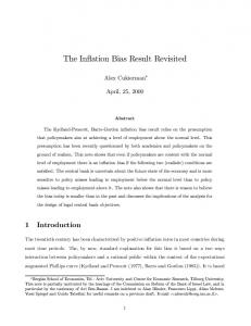 The Inflation Bias Result Revisited