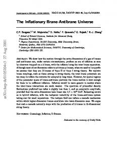 The Inflationary Brane-Antibrane Universe
