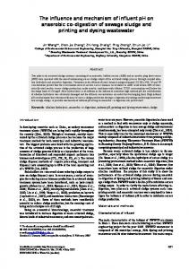 The influence and mechanism of influent pH on anaerobic co ...