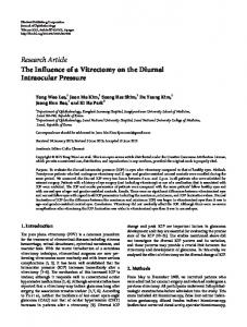 The Influence of a Vitrectomy on the Diurnal Intraocular Pressure