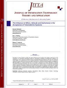 The Influence of Affect, Attitude and Usefulness in ... - Semantic Scholar