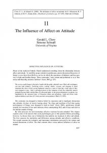 The Influence of Affect on Attitude - Core