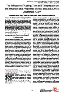 The Influence of Ageing Time and Temperature on the Structure and ...