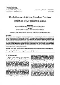 The Influence of Airline Brand on Purchase