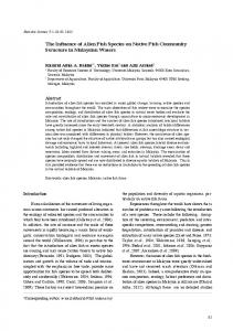The Influence of Alien Fish Species on Native Fish Community ...