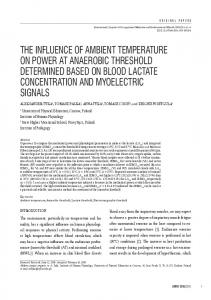 the influence of ambient temperature on power at anaerobic threshold ...