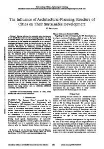 The Influence of Architectural-Planning Structure of Cities on Their ...