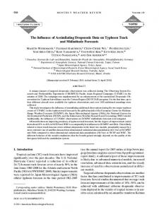 The Influence of Assimilating Dropsonde Data on Typhoon Track and ...