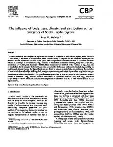 The influence of body mass, climate, and