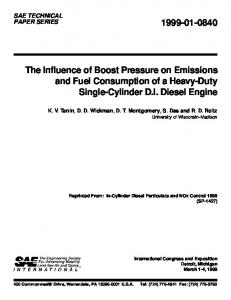 The Influence of Boost Pressure on Emissions and Fuel Consumption ...