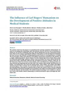 The Influence of Carl Rogers' Humanism on the Development of ...