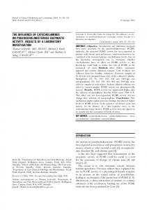 the influence of catecholamines on ... - Springer Link