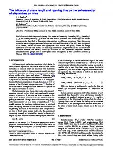The influence of chain length and ripening time on ... - Semantic Scholar