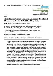 The Influence of Climate Change on Atmospheric Deposition of ... - MDPI