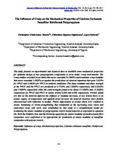 The Influence of Creep on the Mechanical Properties of Calcium ...