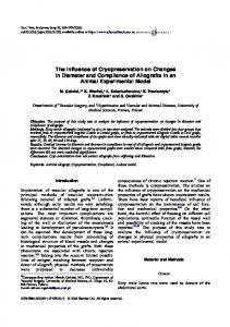 The Influence of Cryopreservation on Changes in Diameter and ...