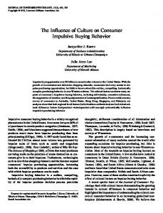 The Influence of Culture on Consumer Impulsive Buying Behavior