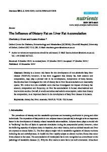 The Influence of Dietary Fat on Liver Fat ... - Semantic Scholar