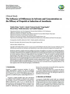 The Influence of Differences in Solvents and Concentration on the