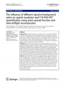 The influence of different signal-to-background ratios on spatial ...