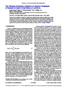 The influence of electron irradiation on electron holography of focused ...