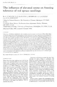 The influence of elevated ozone on freezing ... - Wiley Online Library