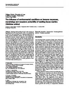 The influence of environmental conditions on immune responses ...