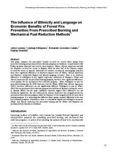 The Influence of Ethnicity and Language on Economic Benefits of ...